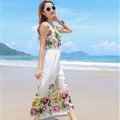 Cute Dresses Summer Girls Affordable Printed Bohemian Coast Chiffon Long - White
