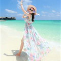 Elegant Dresses Summer Girls Swallowtail Beach Long Chiffon Bohemian - Light Blue