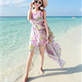 Elegant Dresses Summer Girls Swallowtail Beach Long Chiffon Bohemian - Pink