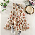 Fation Dresses Summer Girls Floral Bohemian Coast Semi Long Printed - Light Yellow