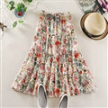 Fation Dresses Summer Girls Floral Bohemian Coast Semi Long Printed - Red Green