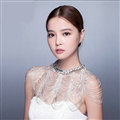 Beautiful Rhinestone Zircon Bridal Necklace Wedding Stage Tassel Shoulder Chain Accessories