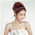 Crystal Alloy Hollow Star Soft Chain Bride Headbands Women Wedding Hair Accessories - White