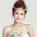 Crystal Butterfly Alloy Soft Chain Bridal Headbands Women Wedding Hair Accessories - White