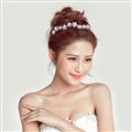 Crystal Stars Alloy Soft Chain Bridal Headbands Women Wedding Hair Accessories - White