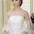 Elegant Wedding Bride Lace Embroidery Flower Shawl Shoulder Chain Wrap Jewelry