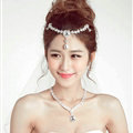 Flower Alloy Rhinestone Bohemia Bridal Frontlet Pendant Heart Headbands Hair Accessories - White