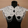 Luxury Bridal Rhinestone Crystal Beads Tassel Queen Wedding Shoulder Chain Accessories