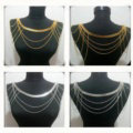 Calssic Alloy Shoulder Necklace Multilayer Tassels Body Chains Punk Jewelry - Sliver