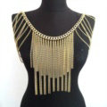 Calssic Alloy Shoulder Necklace Showgirl Multi layer Heavy Tassel Body Chains Jewelry - Sliver