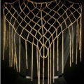 Calssic Tassel Mesh Shawl Shoulder Necklace Showgirl Body Chains Jewelry - Sliver