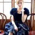 Elegant Real Ostrich Fur Wedding Dress Shawls Women Winter Warm Wraps Cape - Blue
