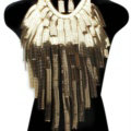 Exaggerated Long Tassel Choker Necklace Showgirl Party Dress Decor Jewelry - Gold