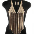 Exaggerated Long Tassel Choker Necklace Showgirl Punk Dress Decor Jewelry - Sliver