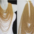 Exaggerated Multilayer Tassel Choker Necklace Showgirl Party Dress Decor Jewelry - Gold